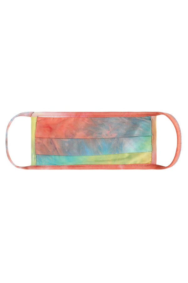 Face Mask - Coral Tie Dye