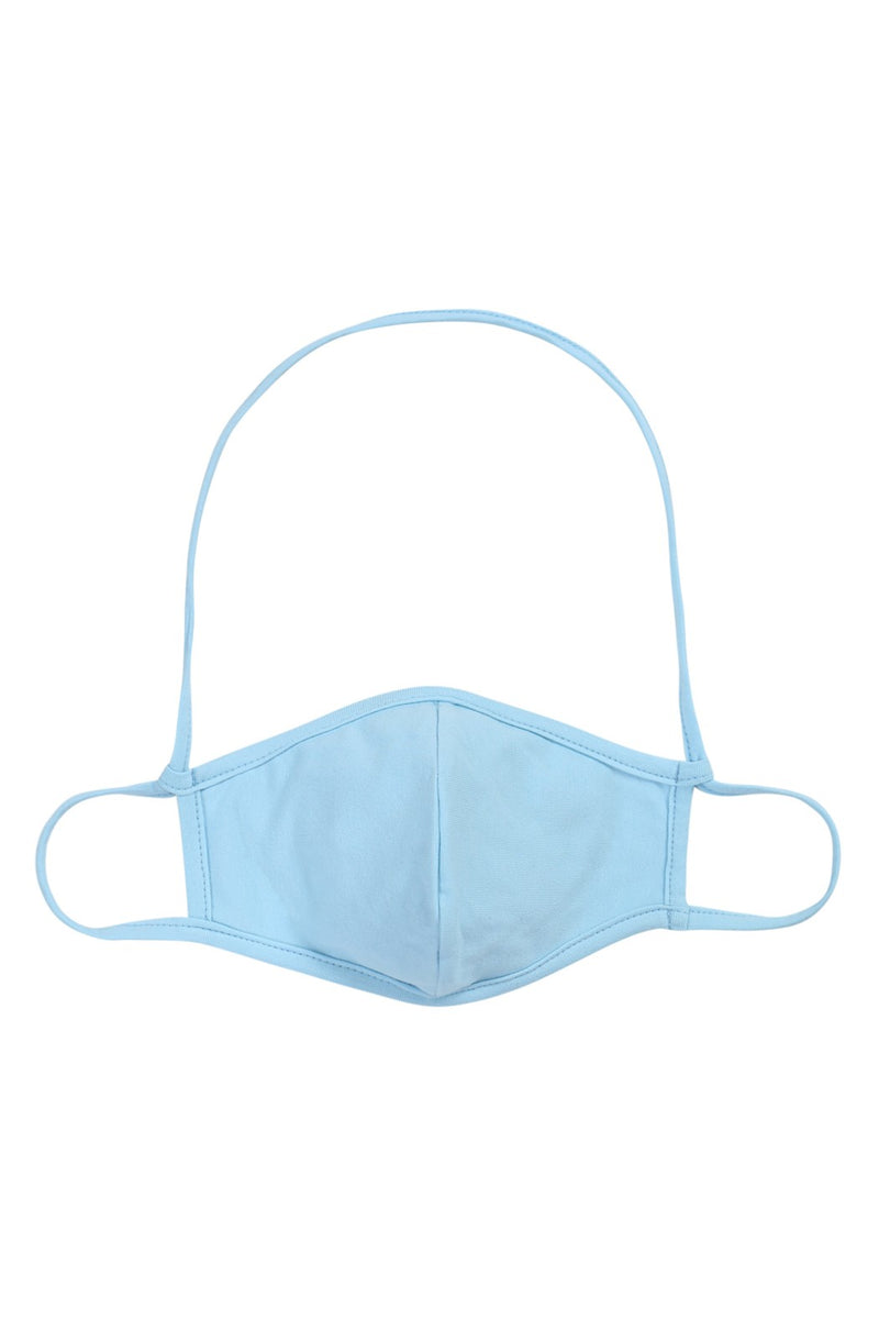 Face Mask - Blue w/ Neck Strap