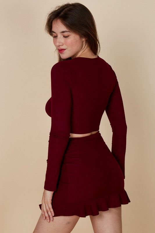 Gabriella Top - Burgundy