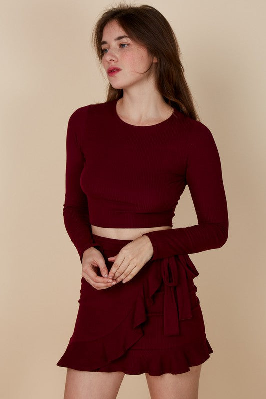 Gabriella Skirt - Burgundy