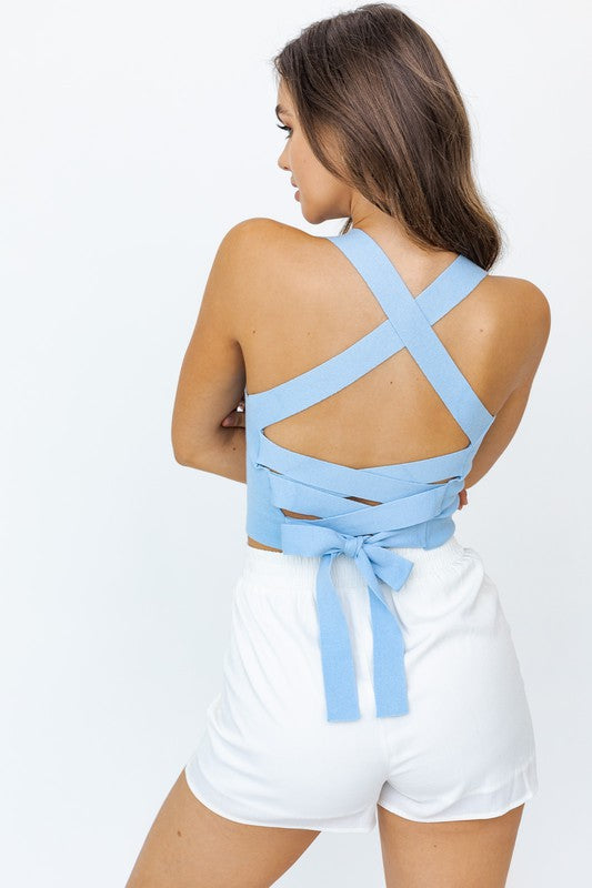 Kellyn Top - Baby Blue