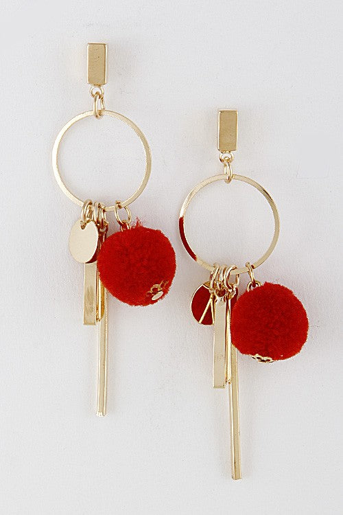 Red Emily Studs