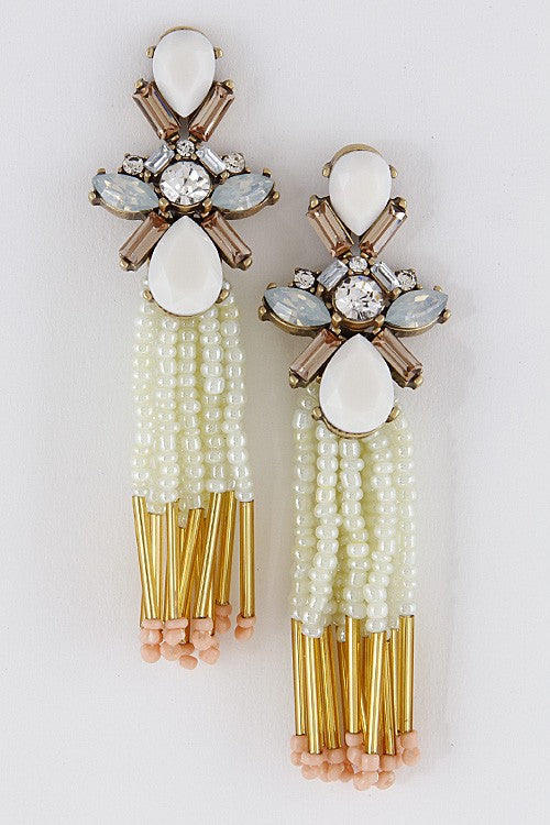 White Bella Earring