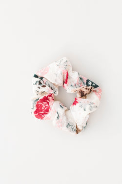 Rose Scrunchie - White