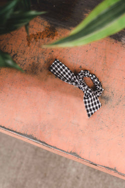 Gingham Scrunchie - Black