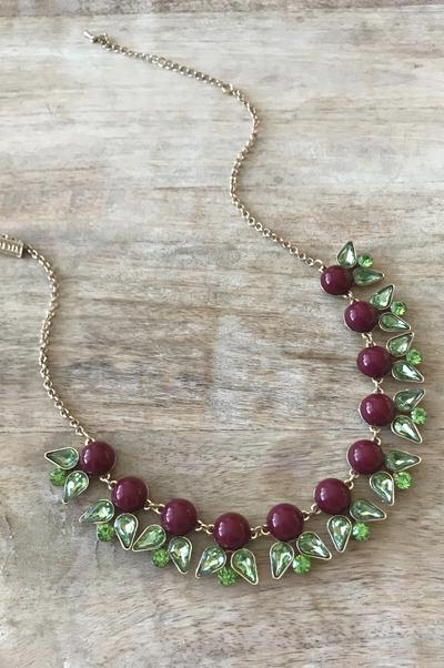 Dominique Necklace - Garnet