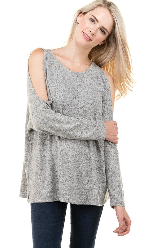 Gray Delaney Top