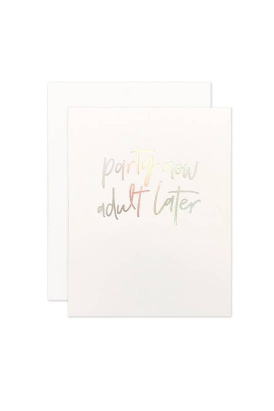Party Now Congrats Card
