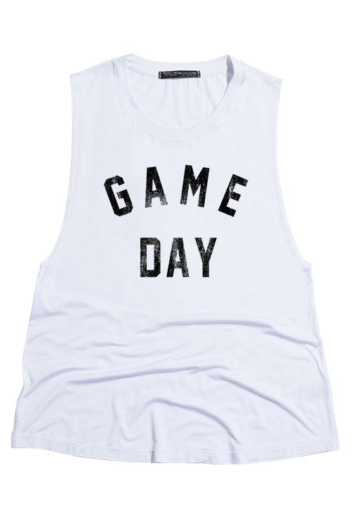White Game Day Tank