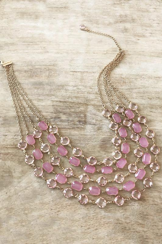 Alexandra Necklace - Pink