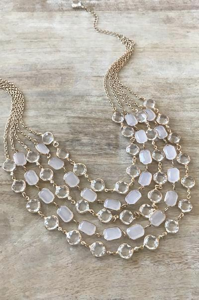 Alexandra Necklace - White