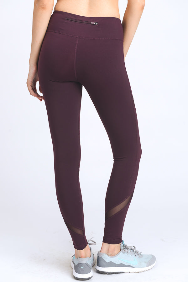 Burgundy Alexa Legging
