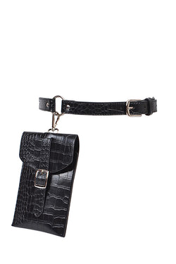 Kayla Belt Bag - Black