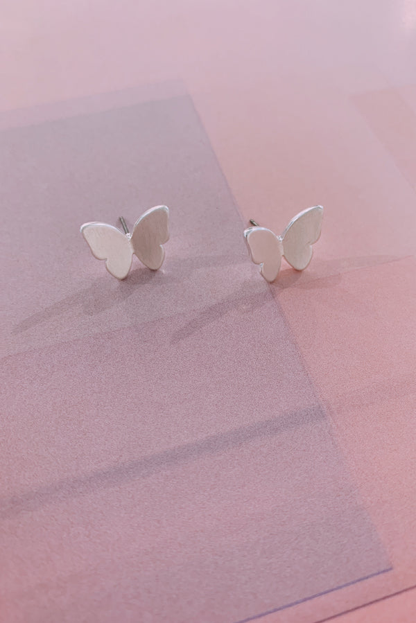 Butterfly Earrings - Sliver