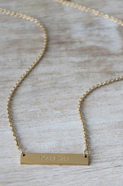 Delta Zeta Bar Necklace