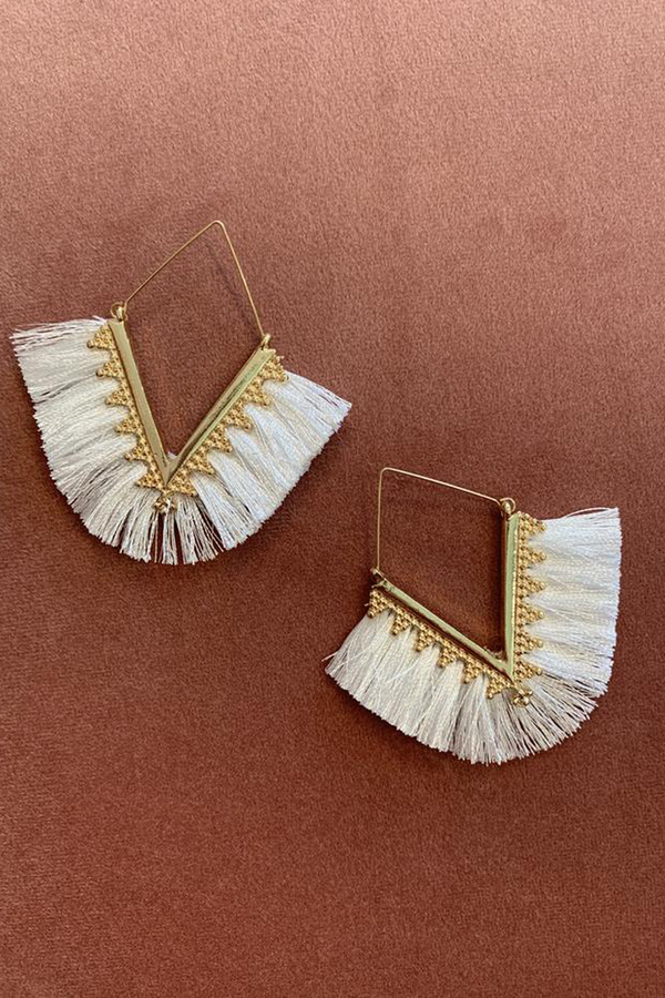 Ivy Earrings - White