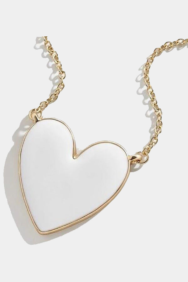 Heart Necklace - White