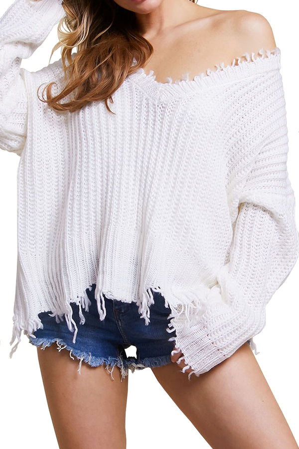 Kacie Sweater - White