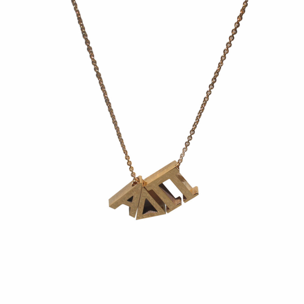 Alpha Delta Pi Letter Necklace