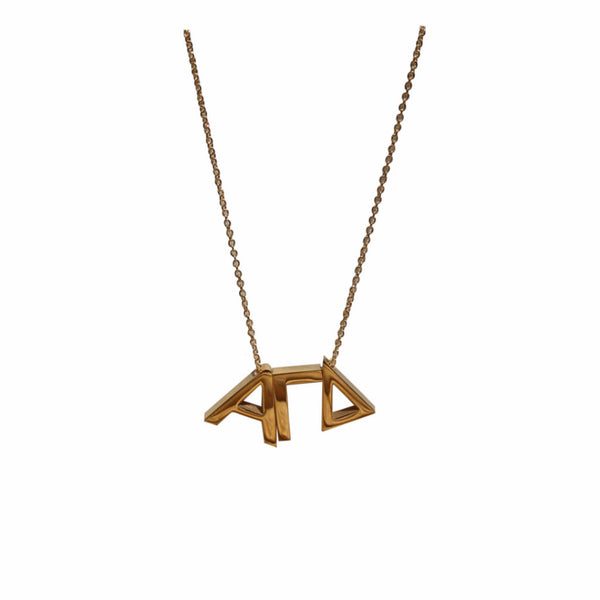 Alpha Gamma Delta Letter Necklace