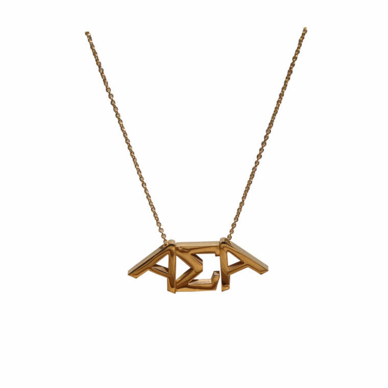 Alpha Sigma Alpha Letter Necklace