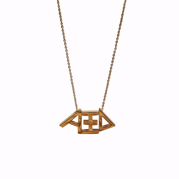 Alpha Xi Delta Letter Necklace