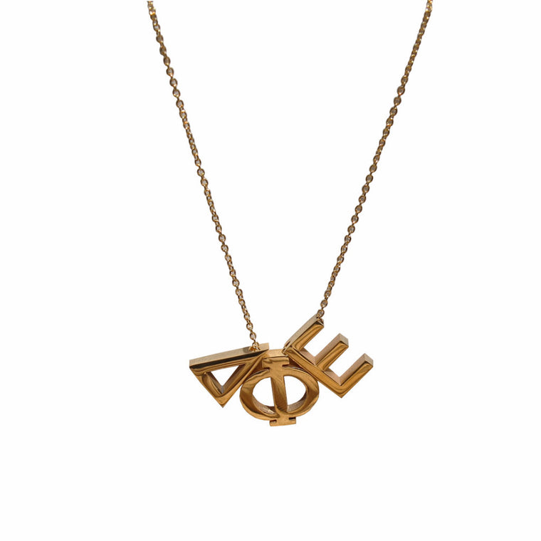 Delta Phi Epsilon Letter Necklace
