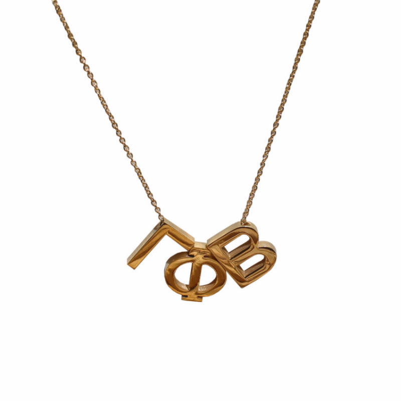Gamma Phi Beta Letter Necklace