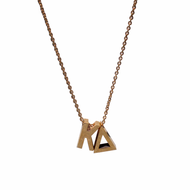 Kappa Delta Letter Necklace