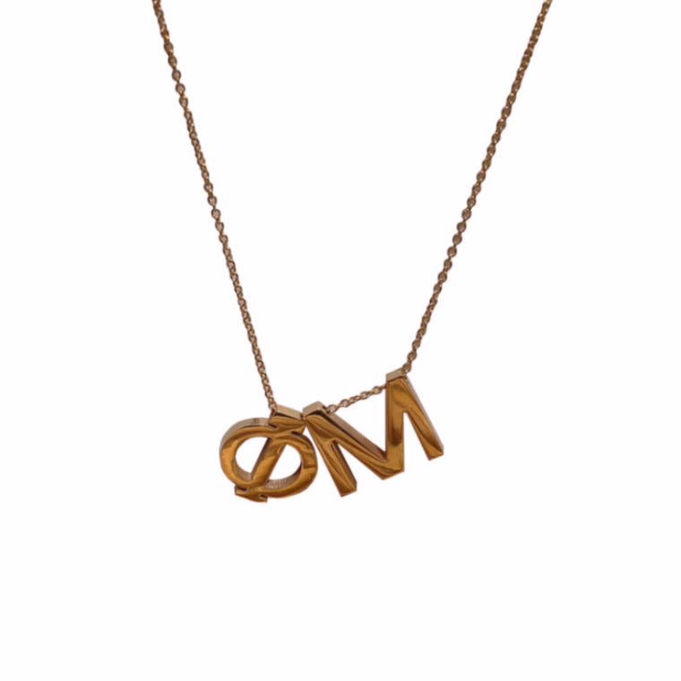 Phi Mu Letter Necklace