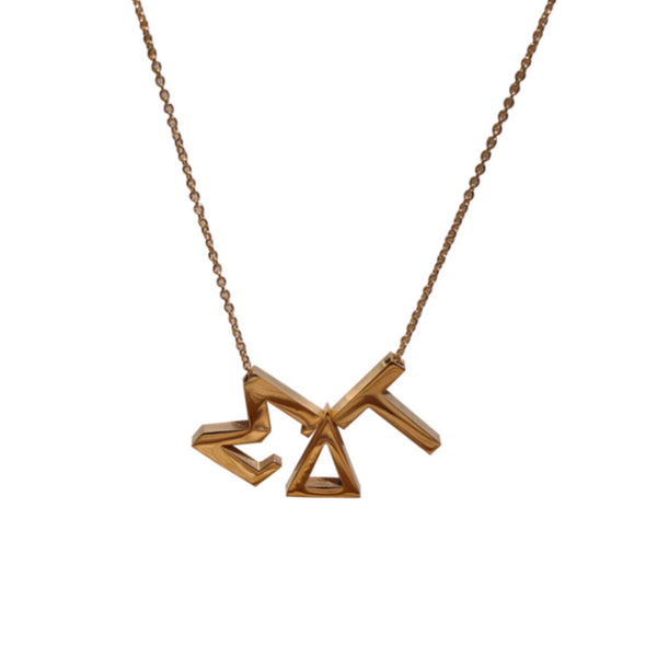 Sigma Delta Tau Letter Necklace
