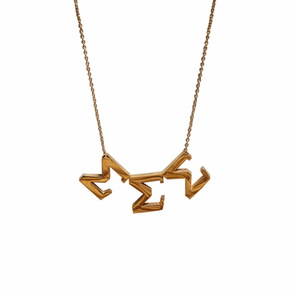 Sigma Sigma Sigma Letter Necklace