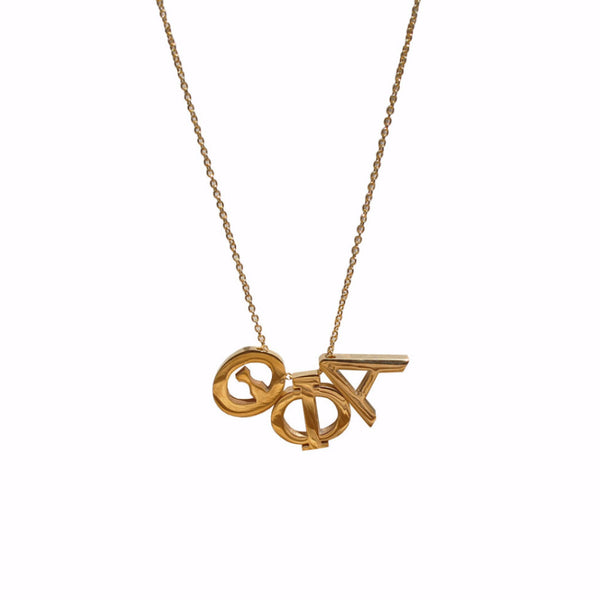 Theta Phi Alpha Letter Necklace