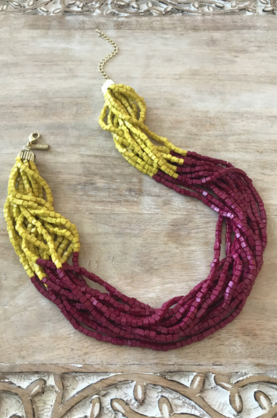 Liana Necklace - Garnet