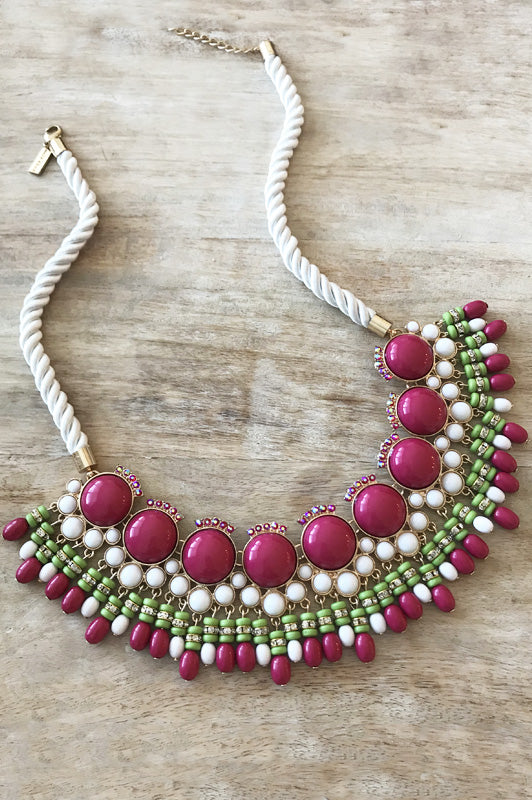 Morgan Necklace - Pink