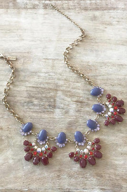 Nell Necklace - Garnet