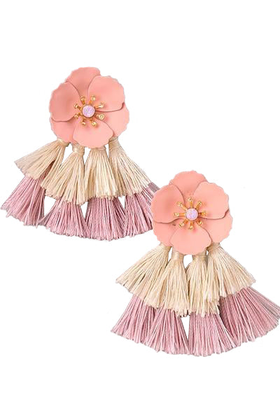 Alexa Earrings - Pink