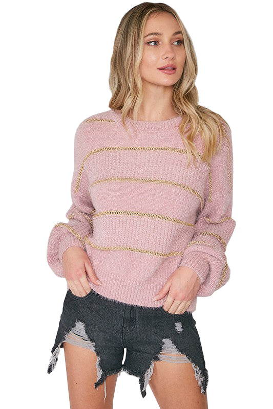 Cleo Sweater - Blush