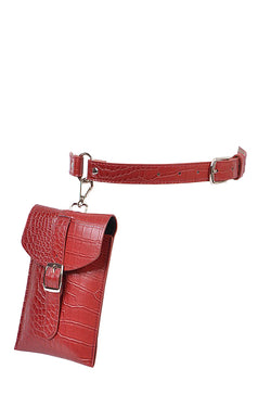 Kayla Belt Bag - Burgundy