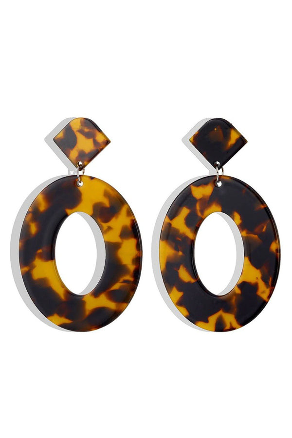 Sadie Earrings - Tortoise