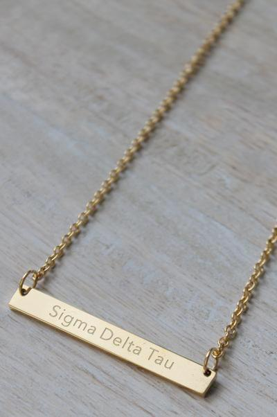 Sigma Delta Tau Bar Necklace