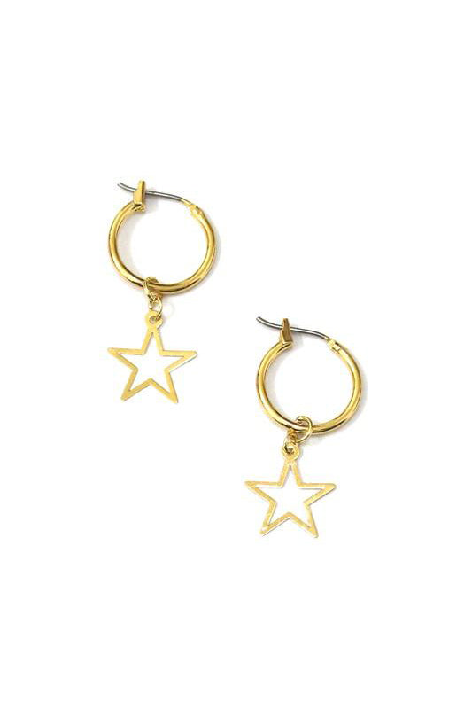 Star Charm Earrings