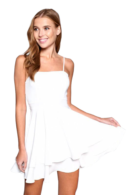 Logan Dress - White