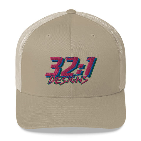 Retro Paint Trucker Hat