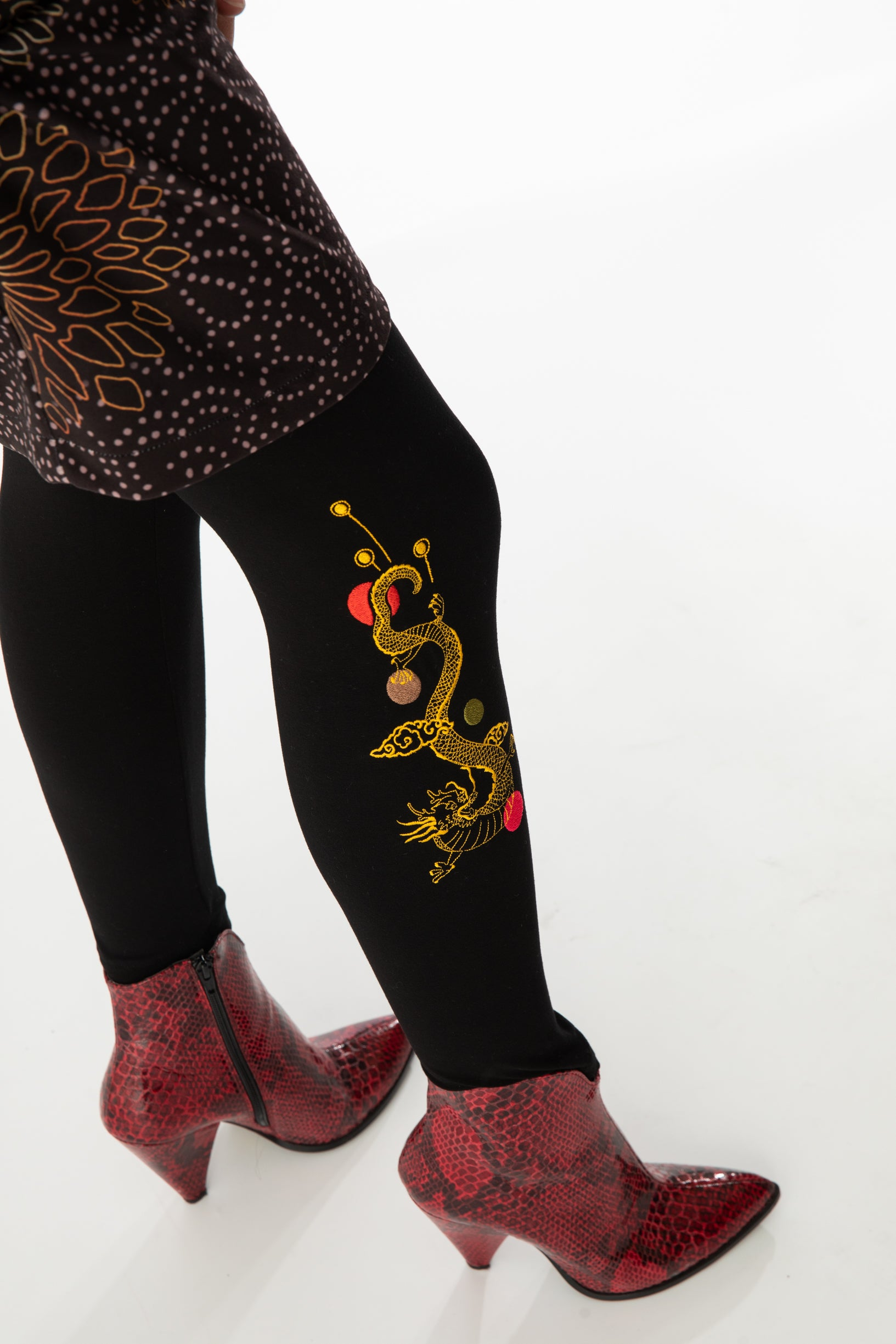 Legging brodé ESTHERA DRAGON