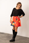 Jupe multi taille KIMMY SUPER HEROS ROUGE