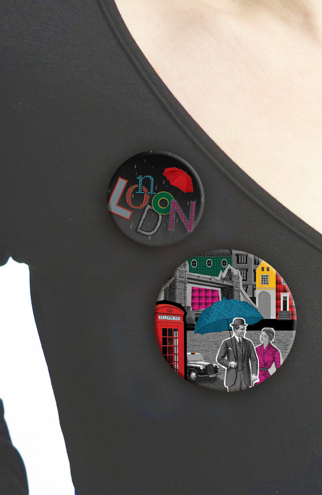 Duo de Badges TANDEM COLLECTOR LONDON