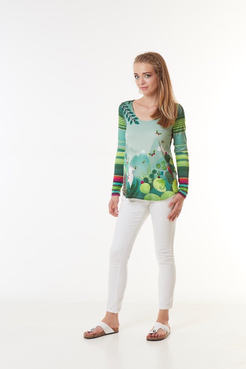 Tee-shirt viscose KERON Validation CACTUS T46