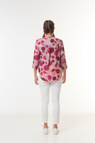 Blouse viscose LINKA CERF-VOLANT