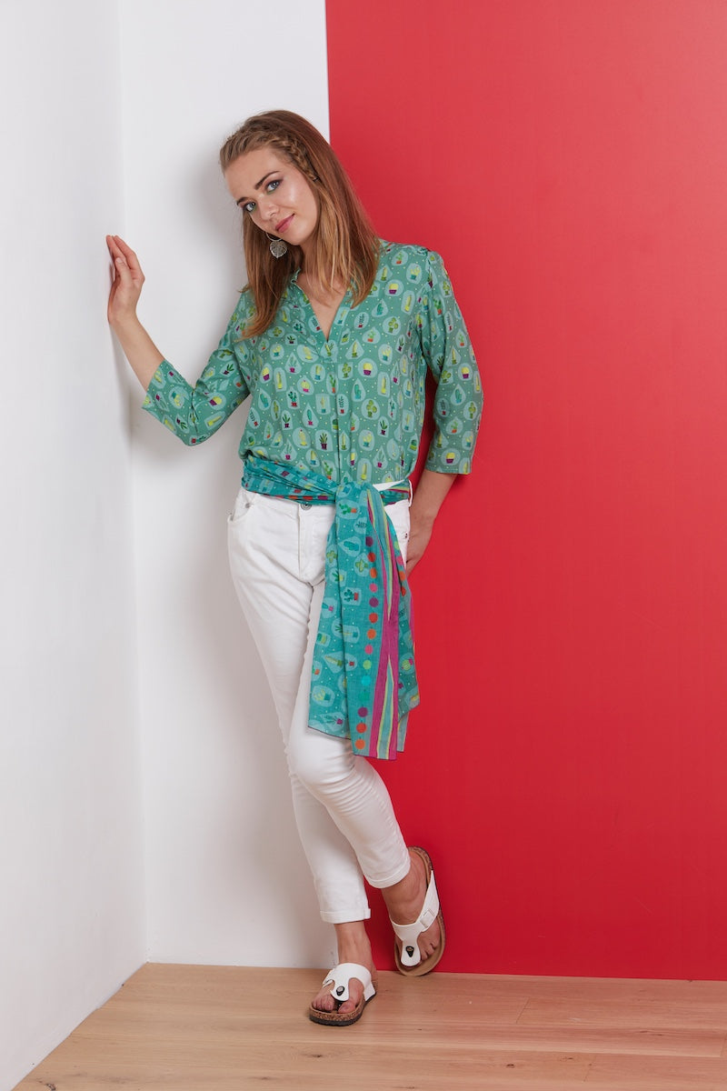 Blouse viscose LINKA CACTUS